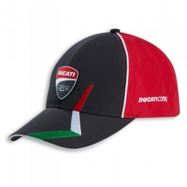 Pánská kšiltovka Ducati Corse Speed červeno-černá, originál