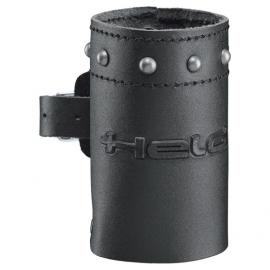 Zdobený kožený držák na nápoje Held, černá