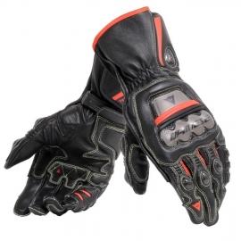 Pánské rukavice na motorku Dainese FULL METAL 6 černá/fluo červená