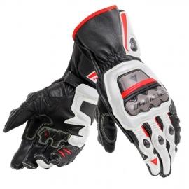 Pánské rukavice na motorku Dainese FULL METAL 6 bílá/černá/červená