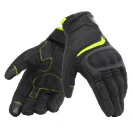 Letní moto rukavice Dainese AIR MASTER černá/fluo-žlutá