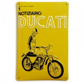 Plechová cedule Notiziario Ducati