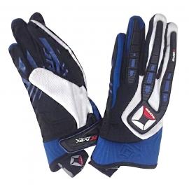 Textilní moto rukavice Kore Cross, modré