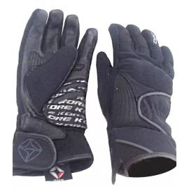Kožené moto rukavice Kore Tour, černé