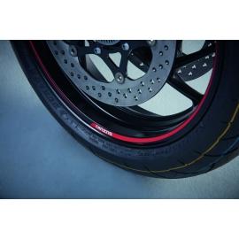 Samolepka na ráfek kola Suzuki červeno-černá, originál