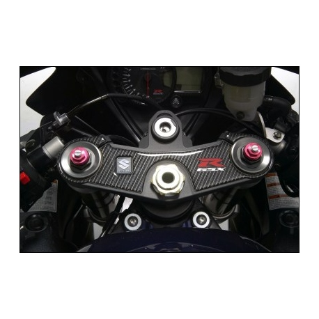 Dekorační samolepka vidlicového můstku Suzuki karbon vzhled, originál