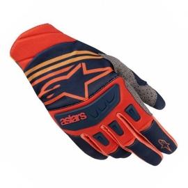 MX rukavice Alpinestars RADAR TECHSTAR červená/modrá