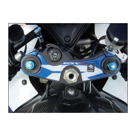 Dekorační samolepka vidlicového můstku Suzuki modrá, originál