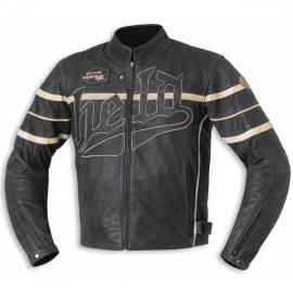 Pánská motocyklová bunda Held ARAS, černá/béžová, kůže
