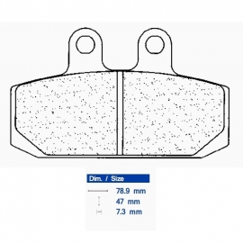 Brzdové destičky CARBONE LORRAINE 2794 S1 (S4)