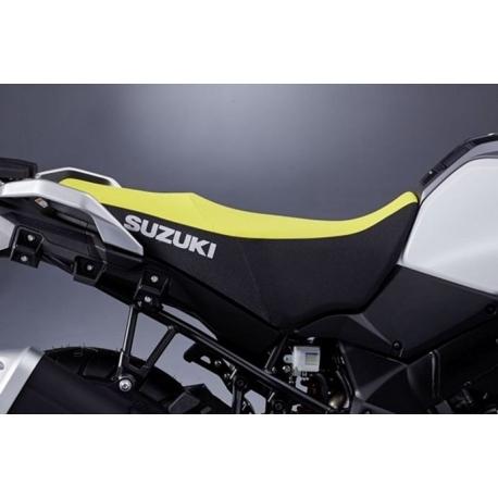 Vyšší sedlo žluto-černé Suzuki, originál