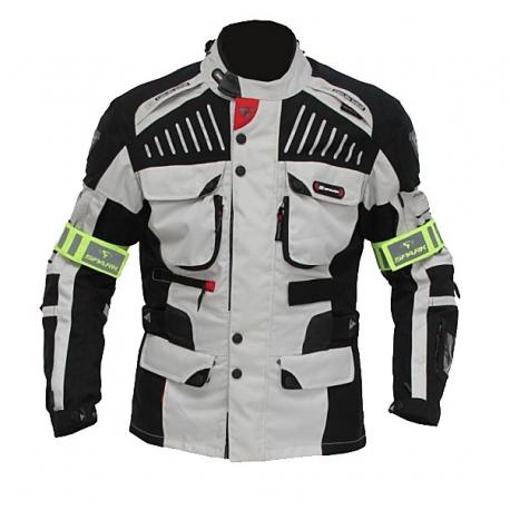 Pánská textilní moto bunda Spark GT Turismo, světlá