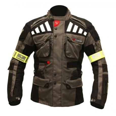 Pánská textilní moto bunda Spark GT Turismo, tmavá