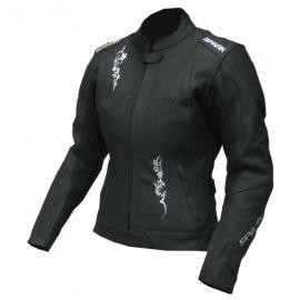 Dámská kožená moto bunda Spark Jane, černá