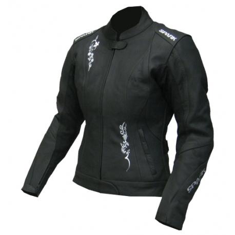 Dámská kožená moto bunda Spark Jane Black