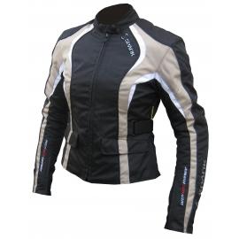 Dámská textilní moto bunda Spark Sara, béžová