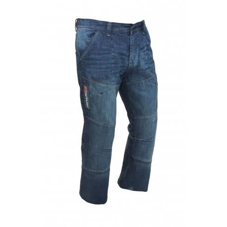 Pánské textilní moto kevlar kalhoty Metro, modré