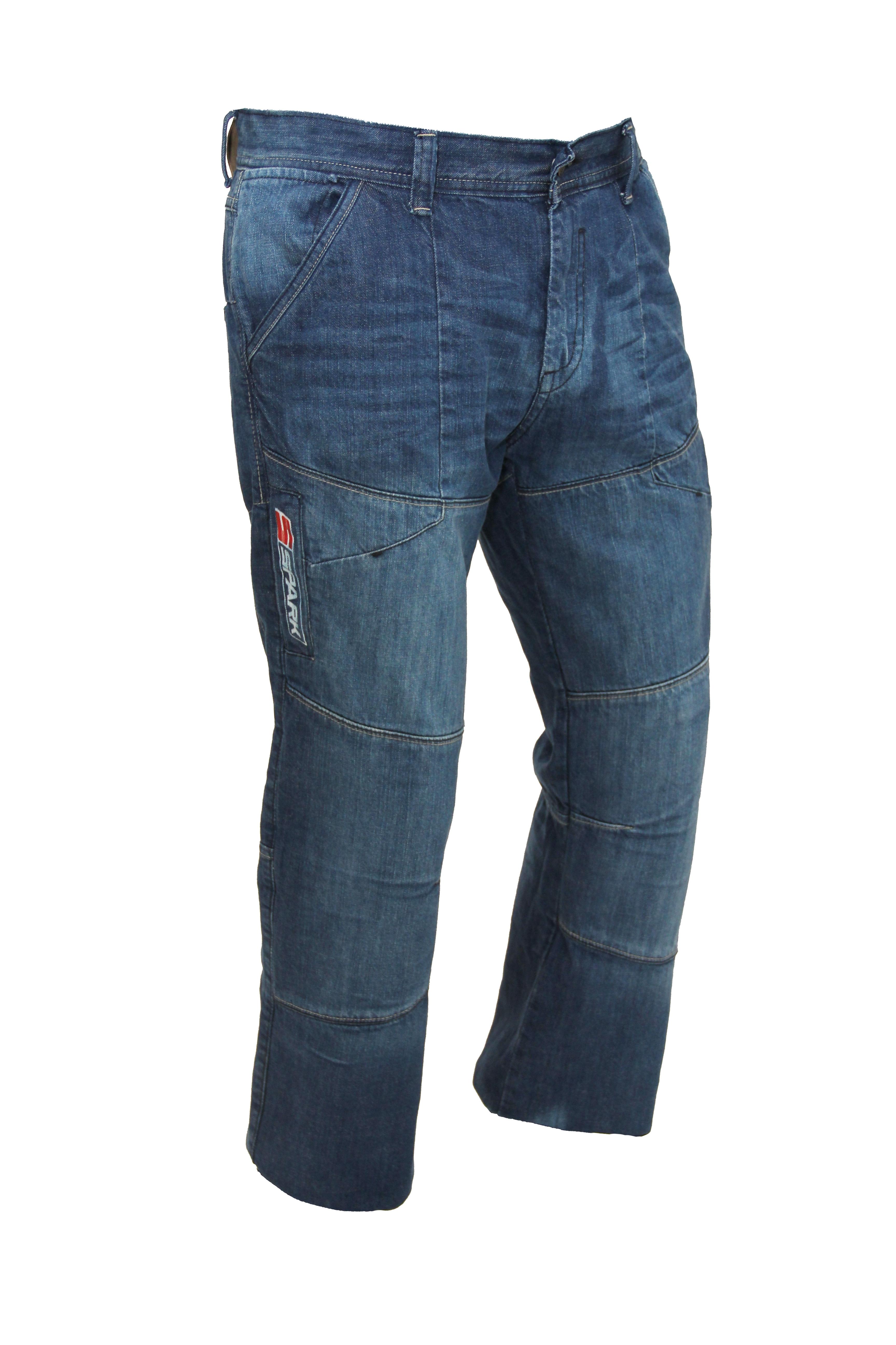 Pánské džínové moto kalhoty SPARK METRO, modré