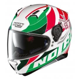 Moto helma Nolan N87 Plein Air N-Com Metal White 48