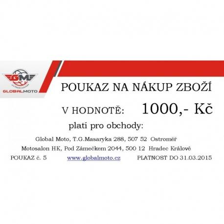 Dárkový poukaz GlobalMoto 1500,-Kč