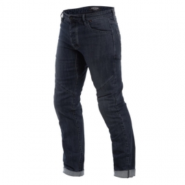 Pánské kalhoty - jeans na motorku Dainese TIVOLI  REGULAR tmavý denim/aramid