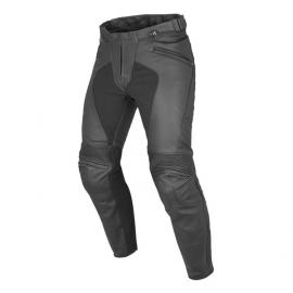 Pánské kožené moto kalhoty Dainese PONY C2 PERF. (letní verze), černé