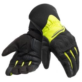 Rukavice na motorku Dainese X-TOURER D-DRY černá/fluo-žlutá, textilní (pár)