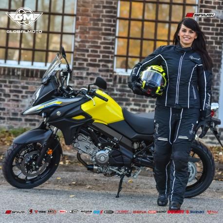 Dámská textilní moto bunda Spark Nora černá - 2XS