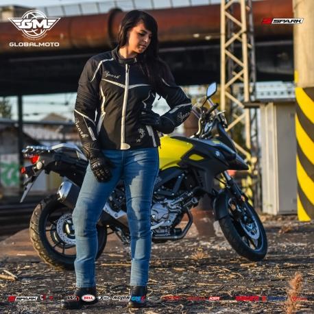 Dámská textilní moto bunda Spark Vintage, černá