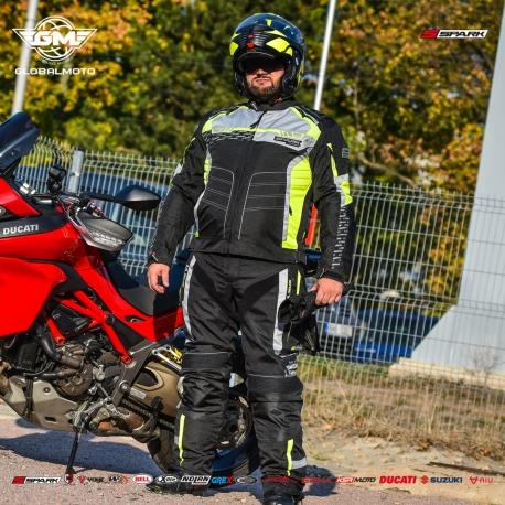 Pánská textilní moto bunda Spark Mizzen Fluo - S
