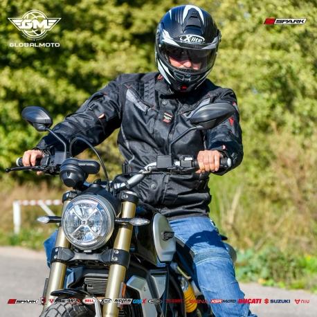 Pánská textilní moto bunda Spark Tonga, černá