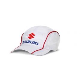Bílá kšiltovka Suzuki Team