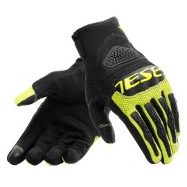Letní moto rukavice Dainese BORA černá/fluo žlutá, textil
