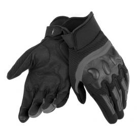 Letní moto rukavice Dainese AIR FRAME Unisex černá, textil/kůže
