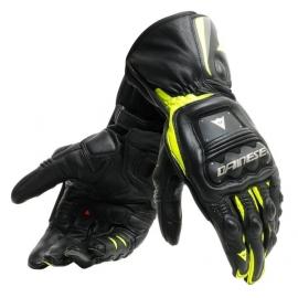 Pánské rukavice na motorku Dainese STEEL-PRO černá/fluo žlutá