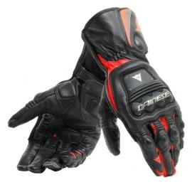 Pánské rukavice na motorku Dainese STEEL-PRO černá/fluo červená