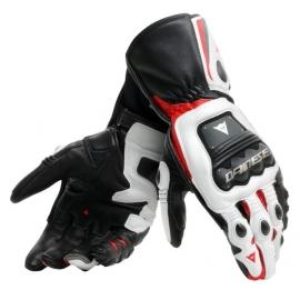 Pánské rukavice na motorku Dainese STEEL-PRO černá/bílá/červená