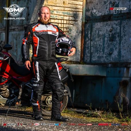 Pánské textilní moto kalhoty Spark Mizzen Red - 6XL