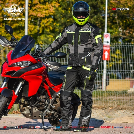 Pánské textilní moto kalhoty Spark Roadrunner Black - 6XL