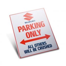 """Plechová cedule """"Suzuki Parking Only"""""""