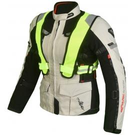 Dámská textilní moto bunda Spark Bora, šedá