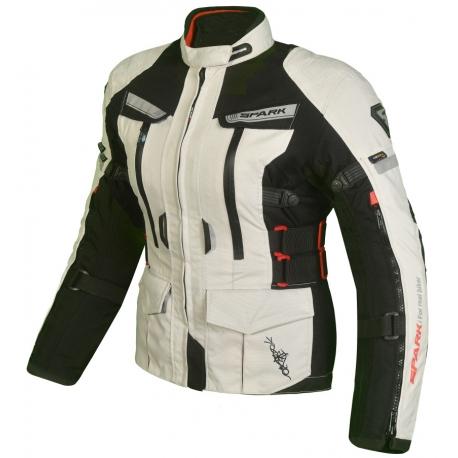 Dámská kožená moto bunda SPARK Bora, černá