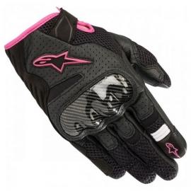 Dámské krátké moto rukavice Alpinestars STELLA SMX-1 AIR V2 černá/růžová