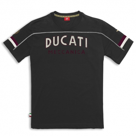 Pánské triko Ducati Meccanica černé, originál