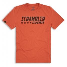 Pánské triko Ducati Scrambler Orange Flip Shirt, originál