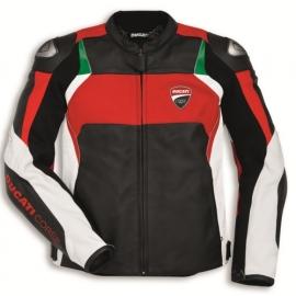 Pánská kožená moto bunda Ducati Corse C3 černá, originál