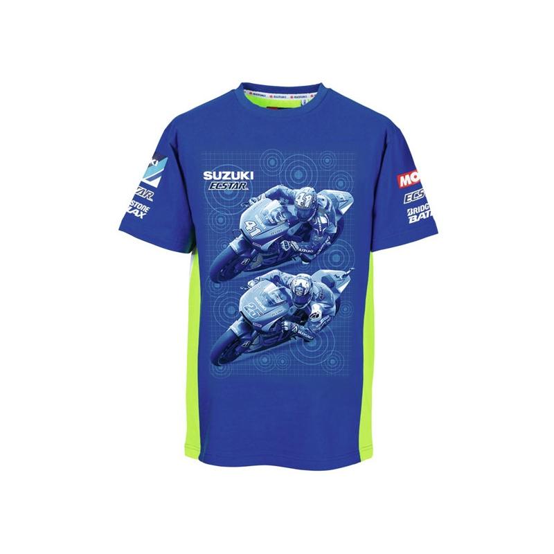 fb09fe984c1 Pánské tričko Suzuki Moto GP Team modré