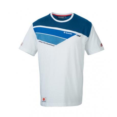 Pánské tričko Suzuki Retro GSX-R bílé, originál