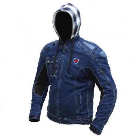 Pánská kevlarová moto bunda Spark Hawk, modrá
