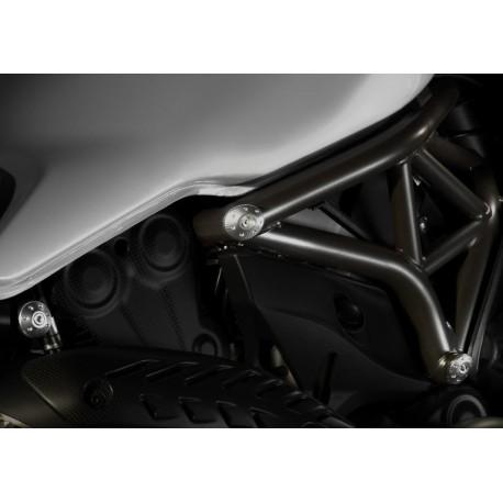 Ducati Monster záslepky do rámu černé